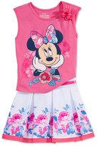 Disney Disney's® Minnie Mouse 2-Pc. Sleeveless T-Shirt & Scooter Skirt Set, Toddler & Little Girls (2T-6X)