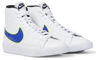 Nike Kids Blazer Mid GS leather sneakers