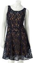 Lauren Conrad lace fit & flare dress set