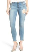 KUT from the Kloth Frayed Hem Stretch Distressed Skinny Jeans