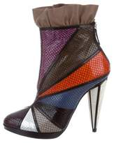 Rodarte 2016 Patchwork Ankle Boots w/ Tags