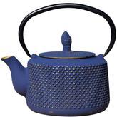 Old Dutch 27 oz. Deep Cast Iron Teapot Matsukasa in Blue/Gold