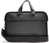 Bottega Veneta Intrecciato-trim leather briefcase