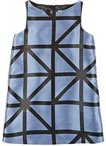 Milly GEOMETRIC-PATTERN SLEEVELESS A-LINE DRESS