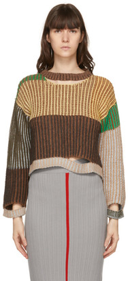 Eckhaus Latta Multicolor Alpaca Wiggly Road Sweater