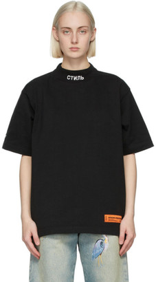 Heron Preston Black and White Logo T-Shirt
