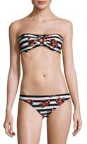 Proenza Schouler Two-Piece Bandeau Floral Bikini