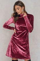 High neck Velvet Dress