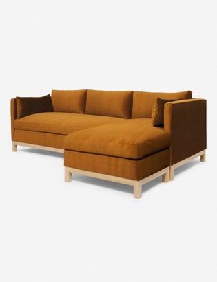 Lulu & Georgia Hollingworth Velvet Right-Facing Sectional Sofa, Cognac By Ginny Macdonald