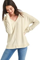 Gap French terry V-neck tunic sweater