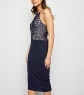 New Look AX Paris 2 in 1 Lace Midi Dress
