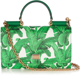 Dolce & Gabbana Von banana leaf-print cross-body bag