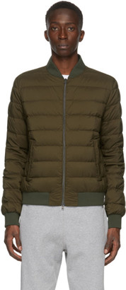 Herno Green Down LAviatore Bomber Jacket