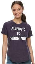 """Juniors' Modern Lux """"Allergic to Mornings"""" Graphic Tee"""