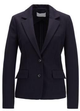 HUGO BOSS Regular Fit Jacket In Italian Stretch Jersey - Light Blue