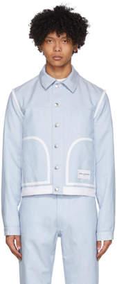 Daniel W. Fletcher Blue Denim Contrast Jacket