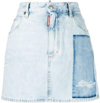 DSQUARED2 Dalma patch denim skirt