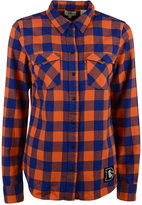 Levi's Women's Denver Broncos Plaid Button-Up Shirt