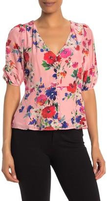 Yumi Kim Cloud 9 Floral Elbow Sleeve Top