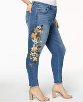 INC International Concepts I.N.C. Plus Size Embroidered Skinny Jeans, Created for Macy's