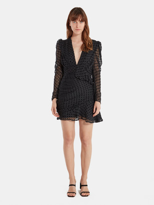 IRO Callagan Asymmetrical Ruffle Mini Dress