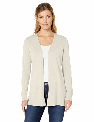 Amazon Essentials Lightweight Open-front Cardigan Sweater Oatmeal Heather S