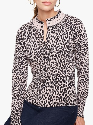 Damsel in a Dress Armelle Animal Print Cardigan, Nude/Multi