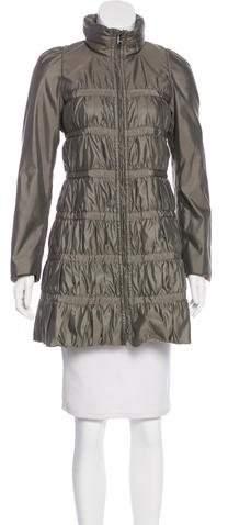 Armani Collezioni Zip-Up Knee-Length Coat