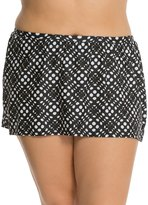 Delta Burke Plus Size Peek a Boo Skirted Bottom 7538522