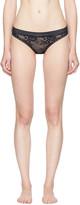 Stella McCartney Navy Stella Soft Lace Thong
