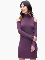Splendid Cold Shoulder Waffle Knit Dress