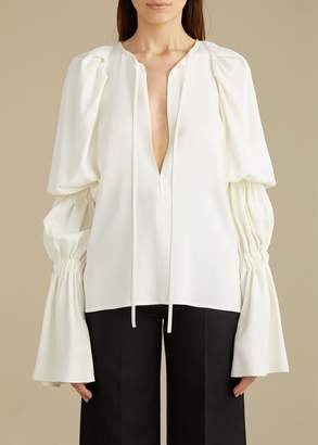 KHAITE The Cortez Top in Ivory