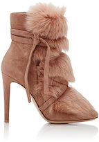 Gianvito Rossi Women's Moritz Suede & Fur Ankle Boots-PINK