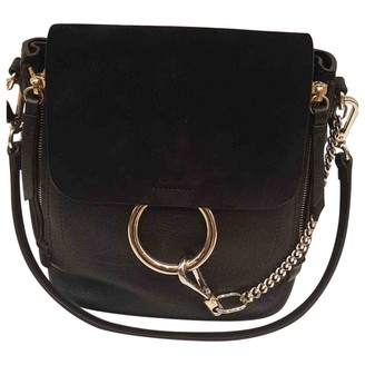 Chloã© ChloA Faye Black Leather Backpacks