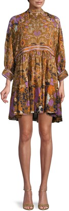 Free People Nouveau Floral Mini Shirtdress