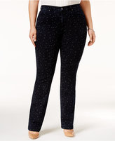 Charter Club Plus Size Star-Print Straight-Leg Jeans, Only at Macy's