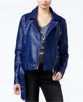 William Rast Textured Faux-Leather Moto Jacket
