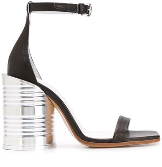 MM6 MAISON MARGIELA Tin Can Heel Sandals