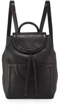 Tory Burch Serif-T Leather Backpack, Black