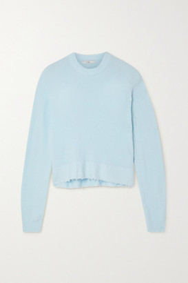 Tibi Distressed Knitted Sweater - Sky blue