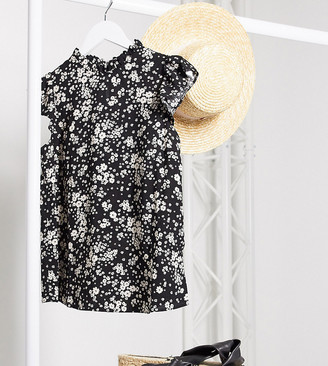 New Look Tall frill blouse in floral