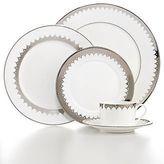 Martha Stewart Collection Martha Stewart Handkerchief Lace Dinner Plate White / Silver