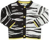 Kenzo Cotton & Wool Jacquard Cardigan