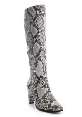 Catherine Malandrino Northy Vegan Leather Tall Shaft Snake Print Boot