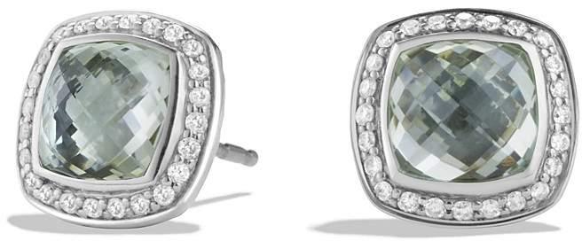 David Yurman Albion Earrings with Prasiolite and Diamonds