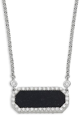 Roberto Coin 18K White Gold, Ruby, Black Jade Diamond Pendant Necklace