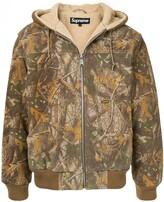 Supreme hooded suede work jacket
