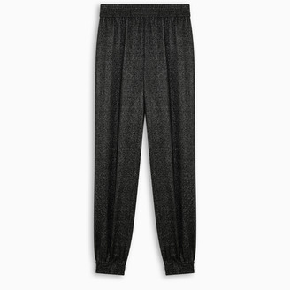 Saint Laurent Black shiny harem trousers