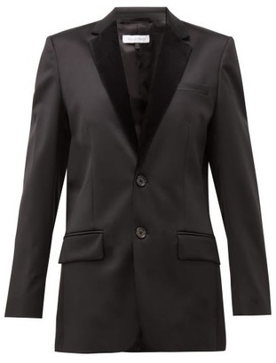 Bella Freud Allen Tailored Wool-blend Jacket - Womens - Black