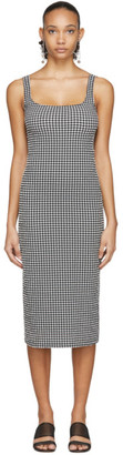 Maryam Nassir Zadeh Black and White Check Salma Dress